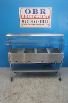 EAGLE GROUP NATURAL GAS STEAM TABLE FOUR OPEN WELLS PAN - Eagle group steam table